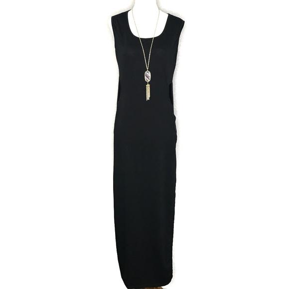 Fei Tong Dresses & Skirts - Fei Tong Black Side Cutout Maxi Dress A070194